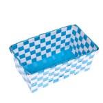 Blue plastic basket isolated on white background — Stock Photo #24718291