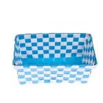 Blue plastic basket isolated on white background — Stock Photo #24718301