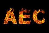 AEC on fire — Stock Photo