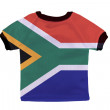 Small shirt with South Africa flag isolated on white background — Stock Photo