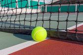 Tennis court with ball closeup — Stock Photo