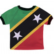 Small shirt with Saint Kitts and Nevis flag isolated on white ba — Stock Photo