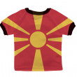 Small shirt with Macedonia flag isolated on white background — Stock Photo