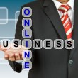 Businessman with wording Online Business — Stock fotografie