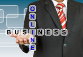 Businessman with wording Online Business — Stock Photo