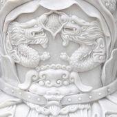 上の 2 つのドラゴンの壁を彫る — ストック写真