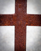 Rusty metal cross — Stock Photo