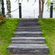 Wood stair way in a garden — Stock Photo #26151657