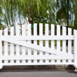 Stock Photo: White fence