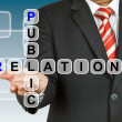 Stock Photo: Businessmhand drawing Public Relation