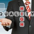 Stock Photo: Businessmhand drawing High Quality