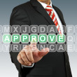 Stock Photo: Business mselect approve