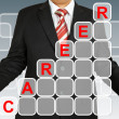 Businessman with career chart — Stock Photo