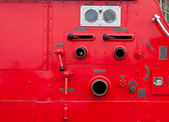 Old vintage fire engine detail — Photo