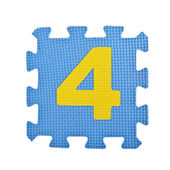 Numeric toy piece isolated on white background — Stock Photo
