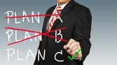 Selezionare uomo d'affari un piano — Foto Stock