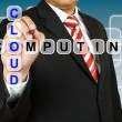 Stock Photo: Businessmwith wording Cloud Computing
