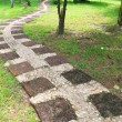 Stone path in outdoor park — Foto de Stock