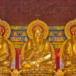 Golden Buddha statue in a temple — Stock Photo