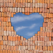 Heart on brick wall — Stock Photo #28899027