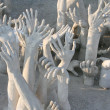 Stock Photo: Hands sculpture frome hell