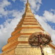 Golden pagoda at Doi Suthep, Thailand — Stock Photo