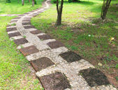 Stone path in outdoor park — Stock Photo