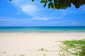 Beach and blue sky — Foto de Stock