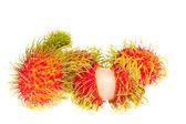 Rambutan fruit isolated on white background — Stock Photo