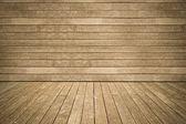 Mur et le revêtement de sol usé fond bois — Photo