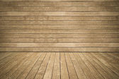 墙上和地板侧板风化木背景 — 图库照片