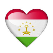 Tajikistan flag in heart shape isolated on white background — Stock Photo