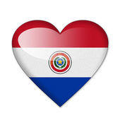 Paraguay flag in heart shape isolated on white background — Stock Photo