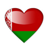 Belarus flag in heart shape isolated on white background — Stock Photo