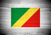 Republic of the Congo flag on wood texture — Stock Photo