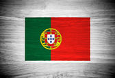 Portugal flag on wood texture — Stock Photo