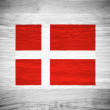 Denmark flag on wood texture — Stock Photo