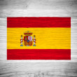 Spain flag on wood texture — Stock Photo