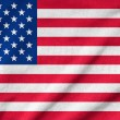 Ruffled US Flag — Stock Photo