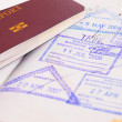 Passport and immigration stamps — Stock Photo #33297479