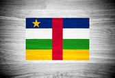 Central African Republic flag on wood texture — Stock Photo