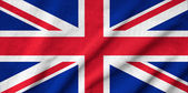 Ruffled UK Flag — Stock Photo