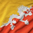 Ruffled Bhutan Flag — Stock Photo