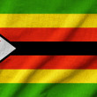 Stock Photo: Ruffled Zimbabwe Flag