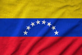 Ruffled Venezuela Flag — Stock Photo