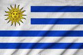 Ruffled Uruguay Flag — Stock Photo