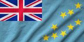 Ruffled Tuvalu Flag — Stock Photo