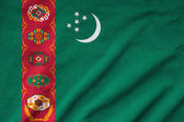 Ruffled Turkmenistan Flag — Stock Photo
