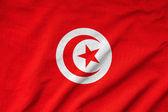 Ruffled Tunisia Flag — Stock Photo