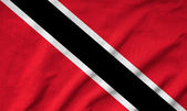 Ruffled Trinidad and Tobago Flag — Stock Photo